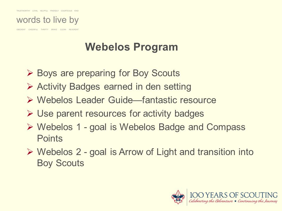Arrow Of Light  The Eagle of Cub Scouting  This rank merits a special ceremony  Once the Webelos Badge is earned, the scout can begin work on the Arrow of Light Badge  This is one of only two Cub Scout awards that may be worn into Boy Scouting--the other is the Religious Emblem