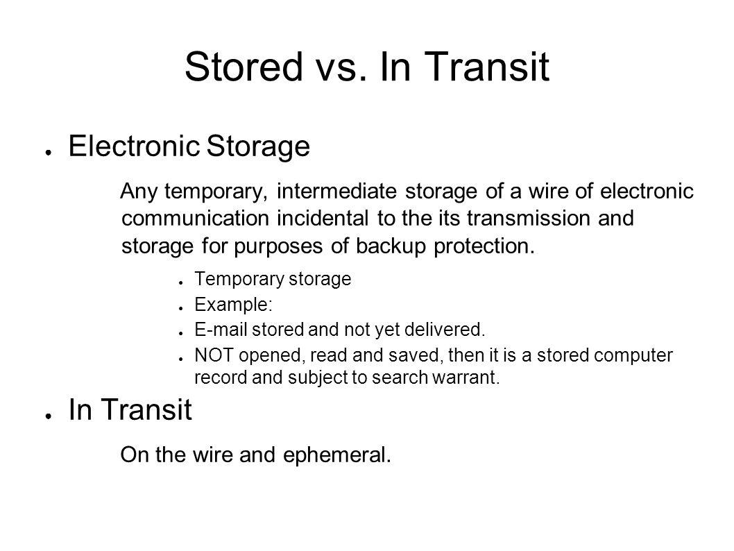 Stored vs.