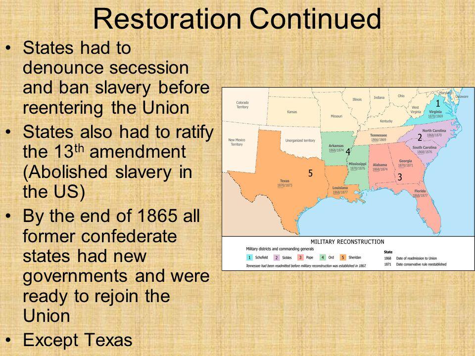 A.A B.B C.C D.D Section 1Section 1 What did the Thirteenth Amendment accomplish.