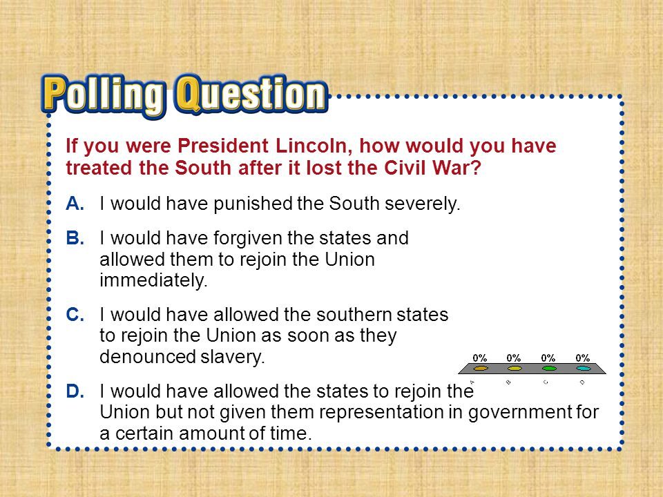 Essential QuestionEssential Question How did plans to unify the nation differ after the Civil War?