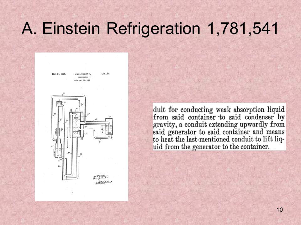 10 A. Einstein Refrigeration 1,781,541