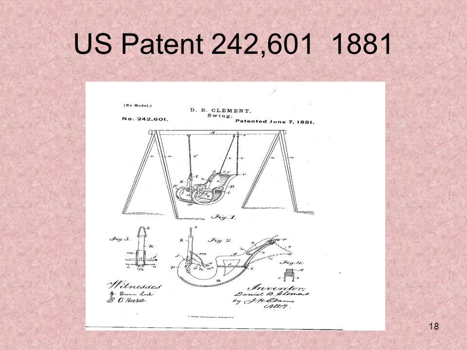 18 US Patent 242,601 1881