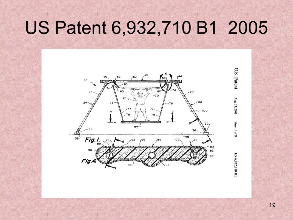 19 US Patent 6,932,710 B1 2005