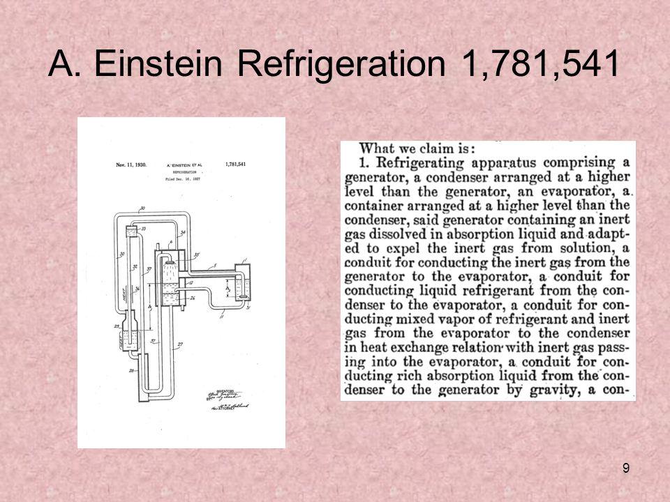9 A. Einstein Refrigeration 1,781,541