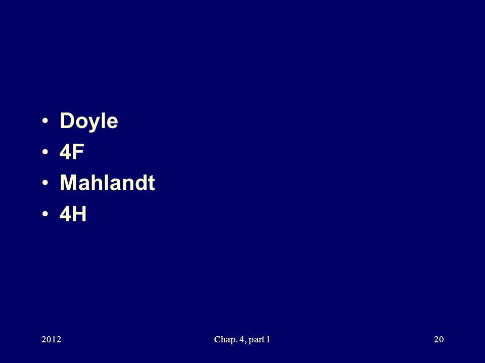 Doyle 4F Mahlandt 4H 2012Chap. 4, part 120