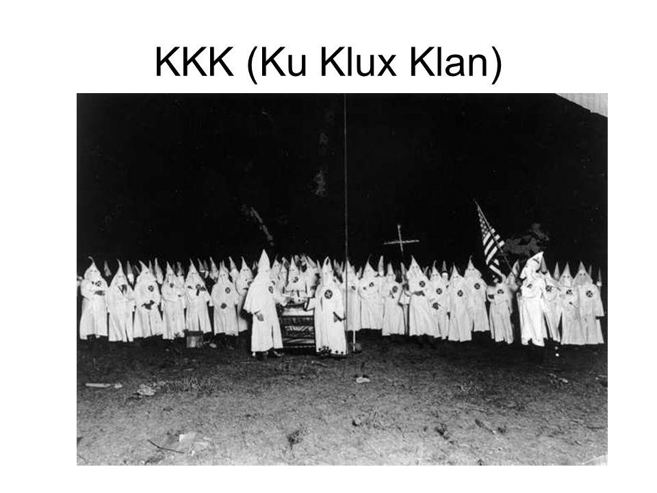 KKK (Ku Klux Klan)