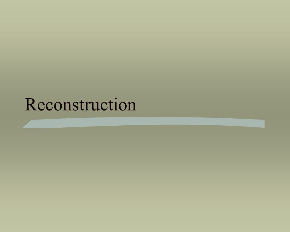 Reconstruction