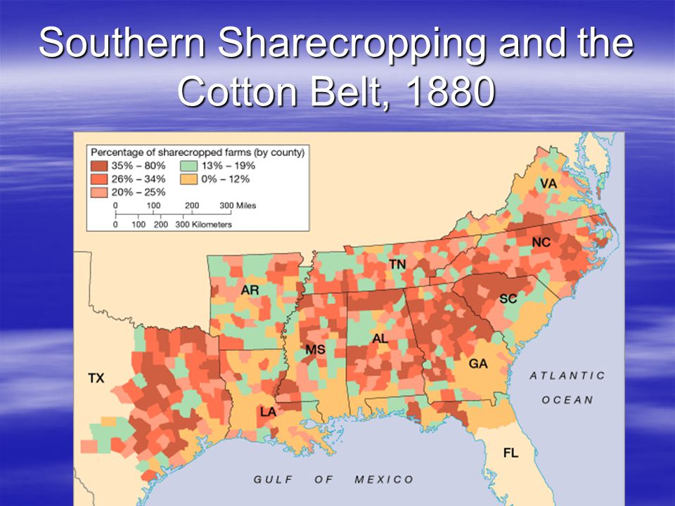 Southern Sharecropping and the Cotton Belt, 1880