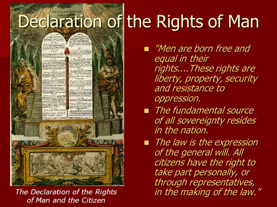 The Declaration of the Rights of Man and the Citizen Declaration of the Rights of Man