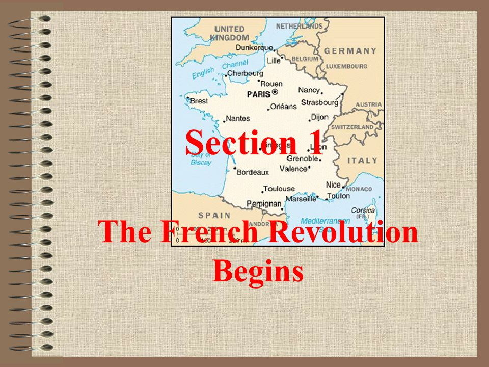 Section 1 The French Revolution Begins