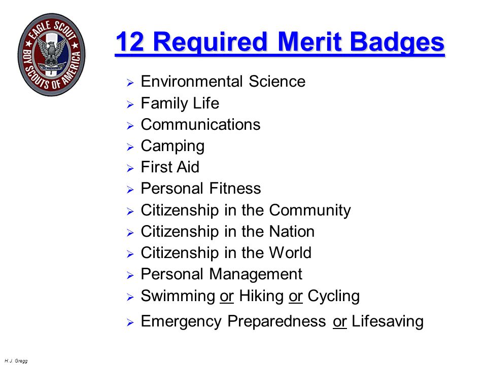 Worksheets Hiking Merit Badge Worksheet Answers h j gregg eagle candidate seminar objectives 6 j
