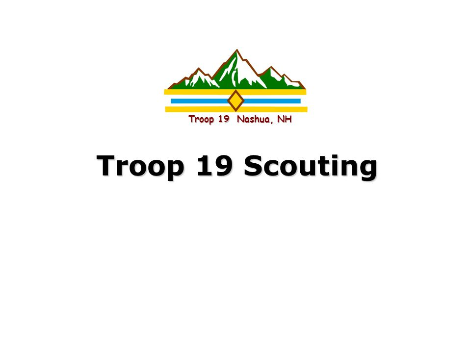 Intel Confidential Troop 19 Scouting Troop 19 Nashua, NH