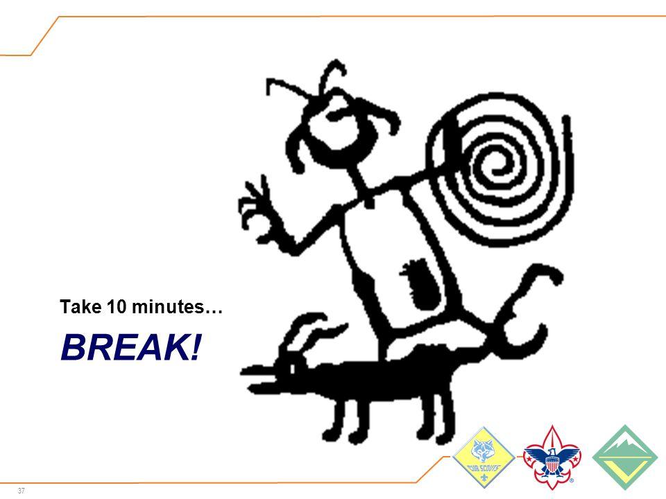 37 BREAK! Take 10 minutes…
