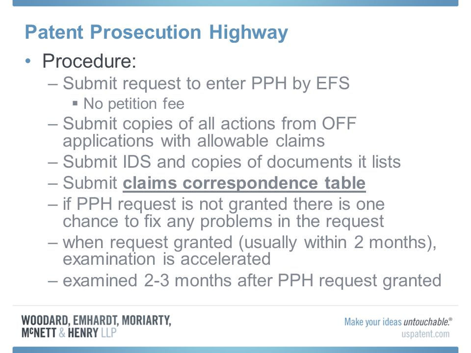 Patent Prosecution Highway The U.S.