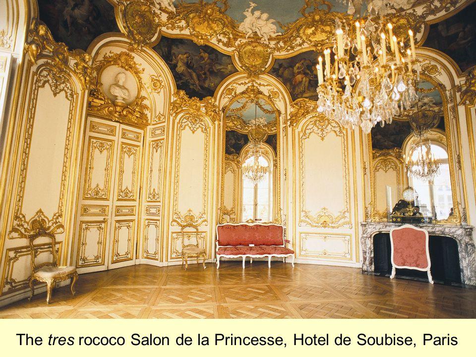 The tres rococo Salon de la Princesse, Hotel de Soubise, Paris