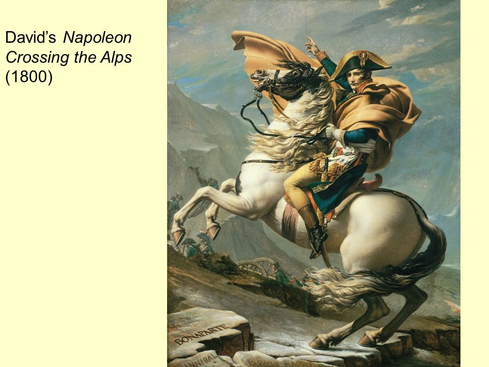 David's Napoleon Crossing the Alps (1800)