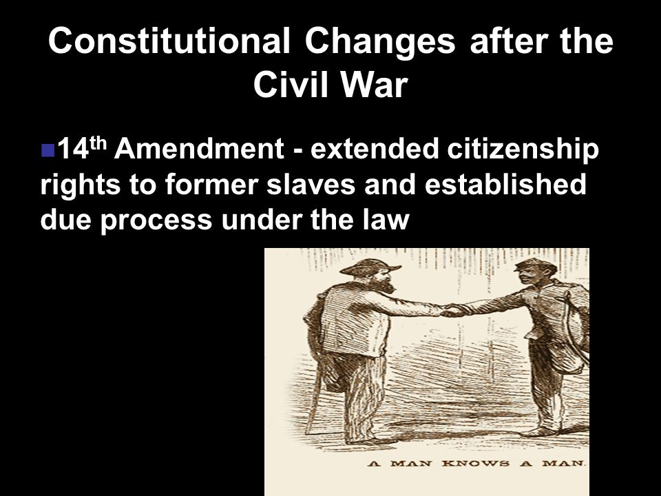 An election was held based on the passage of the 13th, 14th and 15th Amendments.