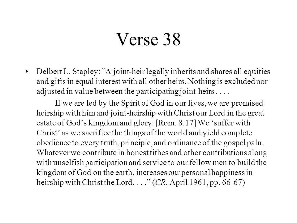 Verse 38 Delbert L.