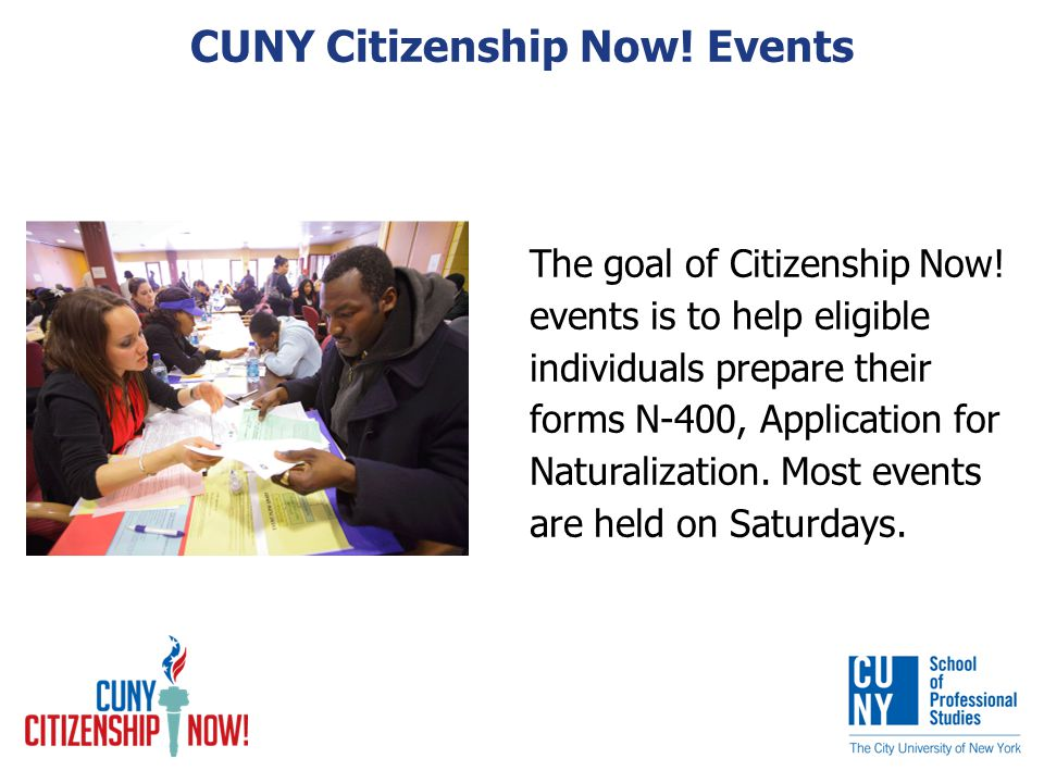 The goal of Citizenship Now.
