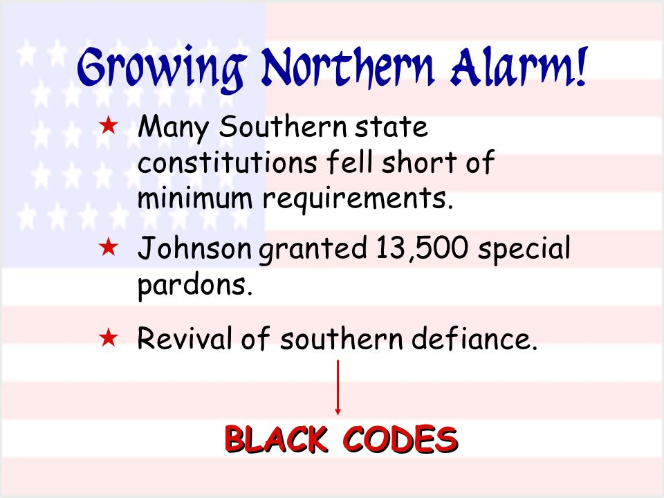  Many Southern state constitutions fell short of minimum requirements.