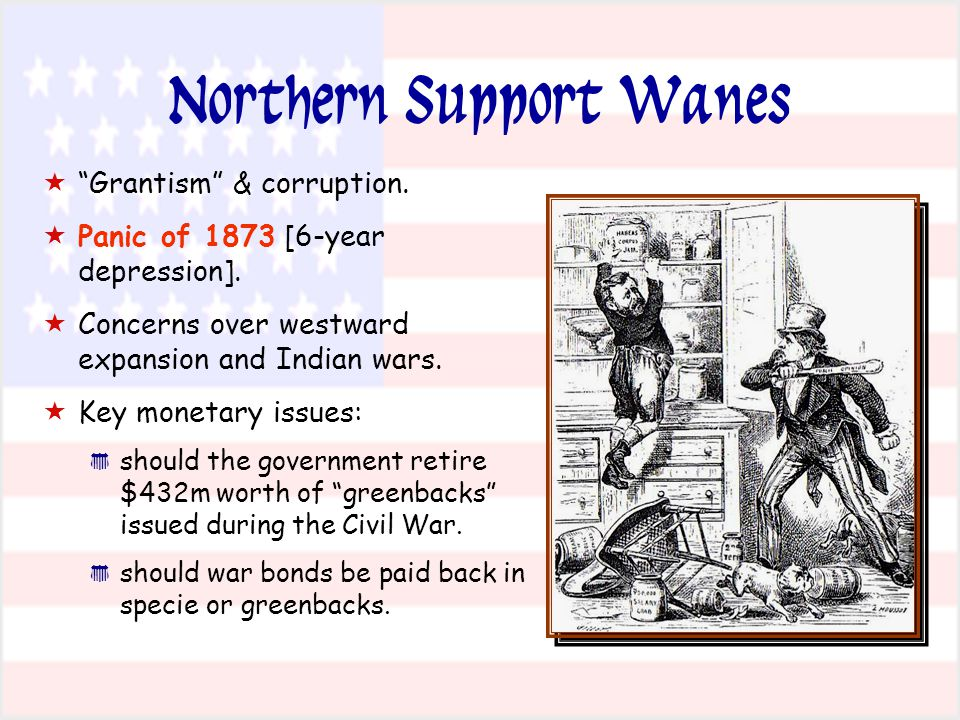 Northern Support Wanes   Grantism & corruption.