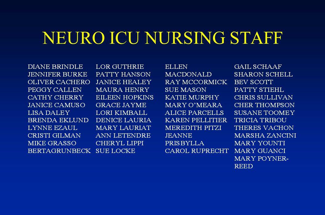 NEURO ICU NURSING STAFF