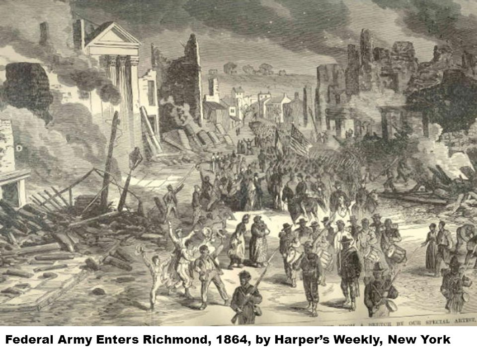 Federal Army Enters Richmond, 1864, by Harper's Weekly, New York