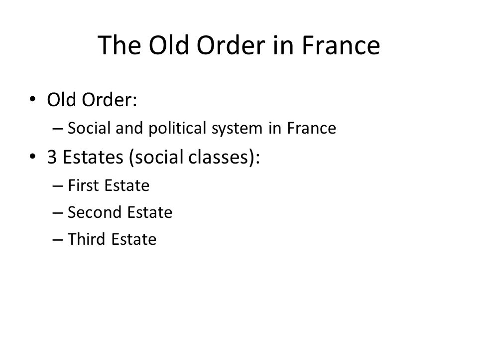 First Estate Small percentage of Population Owned 10 Percent of land in France.