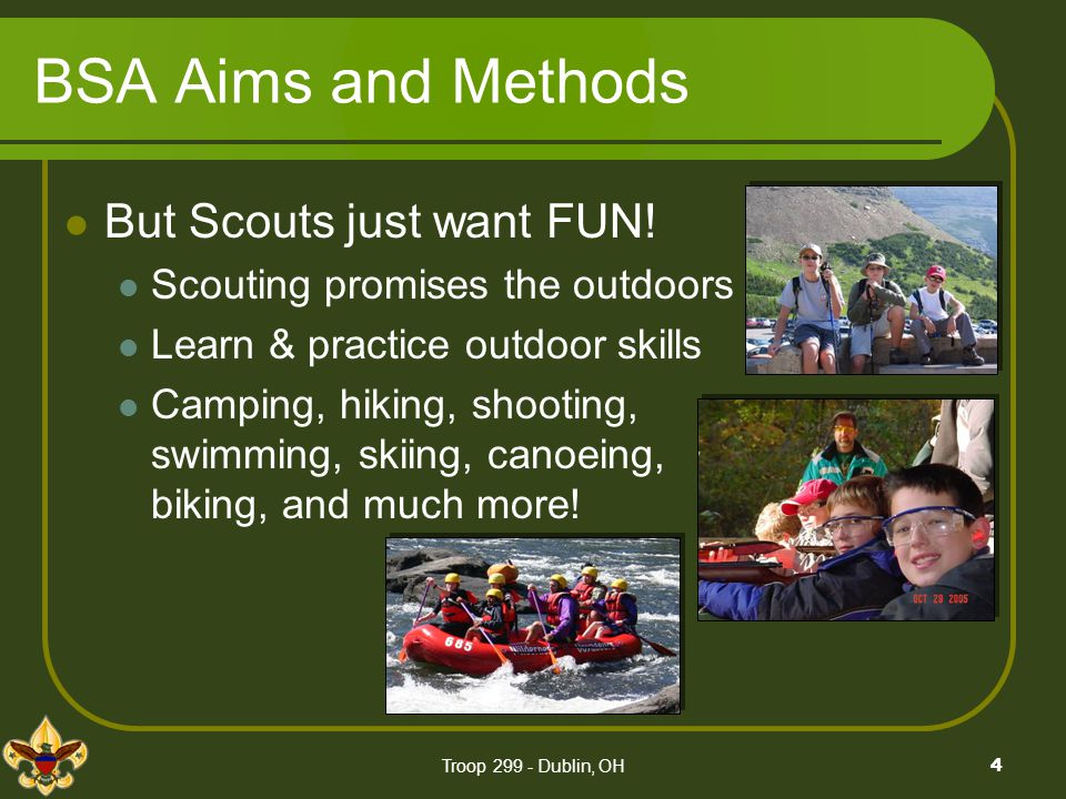 The Patrol Method The patrol system is not one method in which Scouting for boys can be carried on.