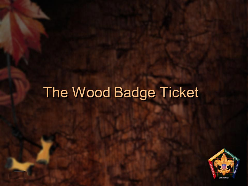The Wood Badge Ticket 1-40