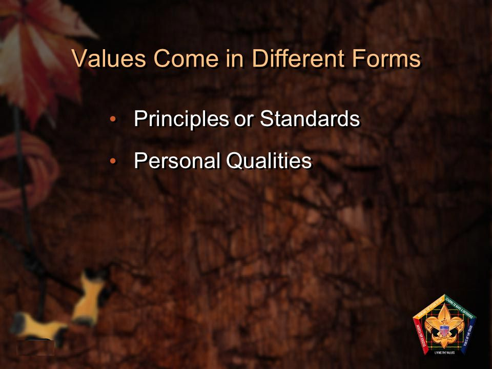Values - Core beliefs or desires that guide or motivate our attitudes and our actions Mission – Encapsulates the values and articulates the overall, long-term objective of the organization Vision – A picture of success and the related plan of action 1-38