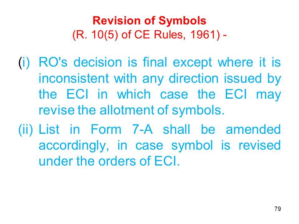 Revision of Symbols (R.