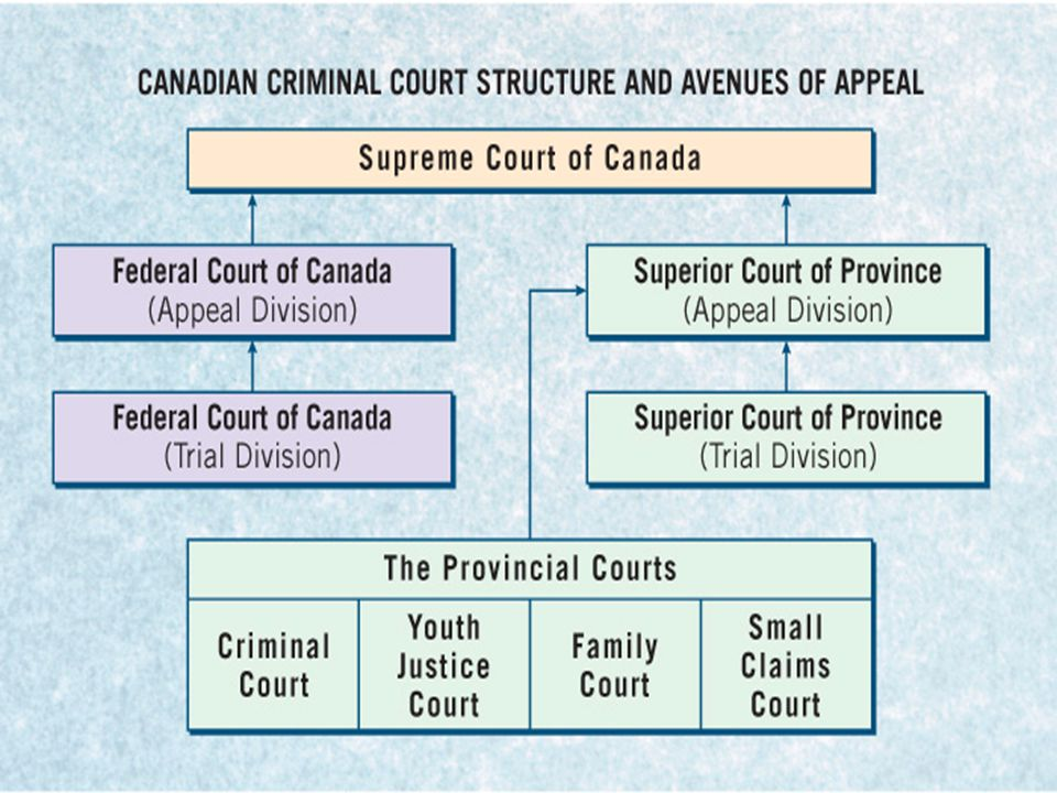 Figure 7.2The Canadian Criminal Court Structure and Avenues of Appeal, p. 163