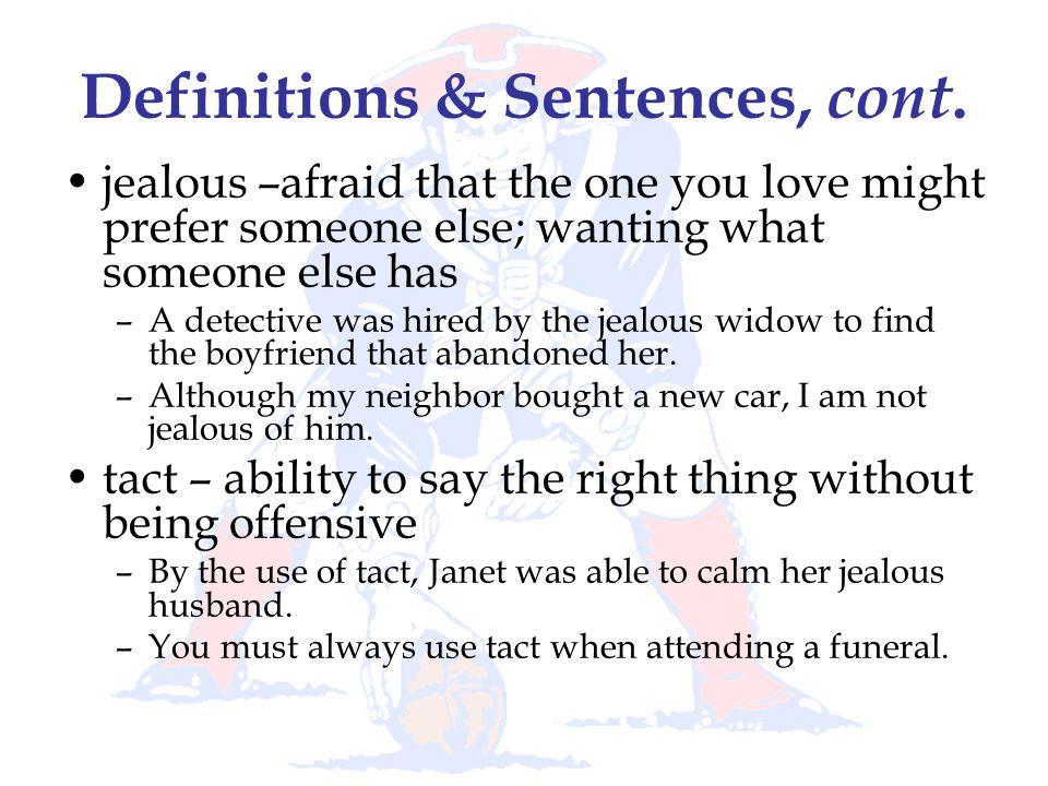 Definitions & Sentences, cont.