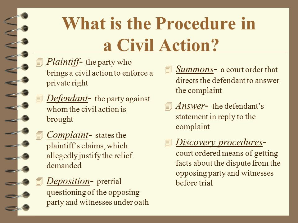 What is the Procedure in a Criminal Action.