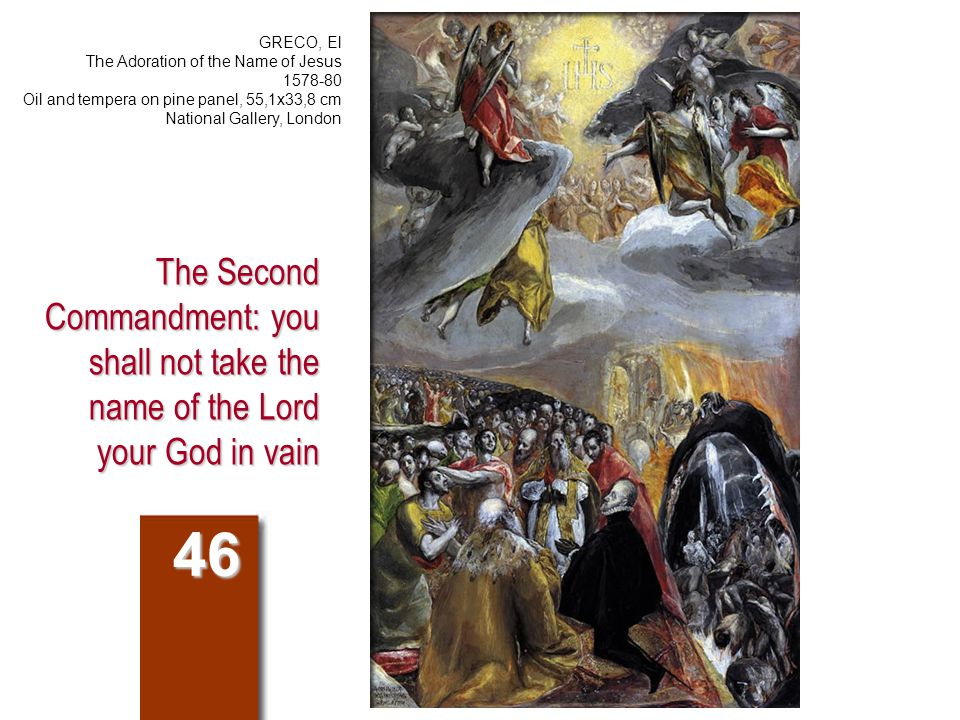 Compendium of the Catechism 447.How does one respect the holiness of the Name of God.