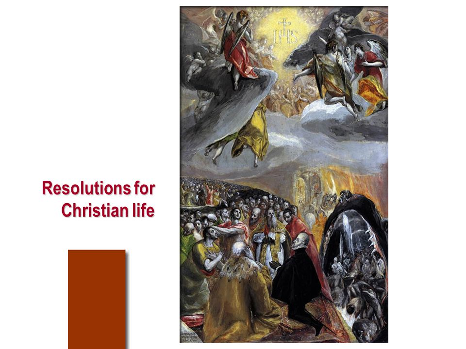 Resolutions for Christian life