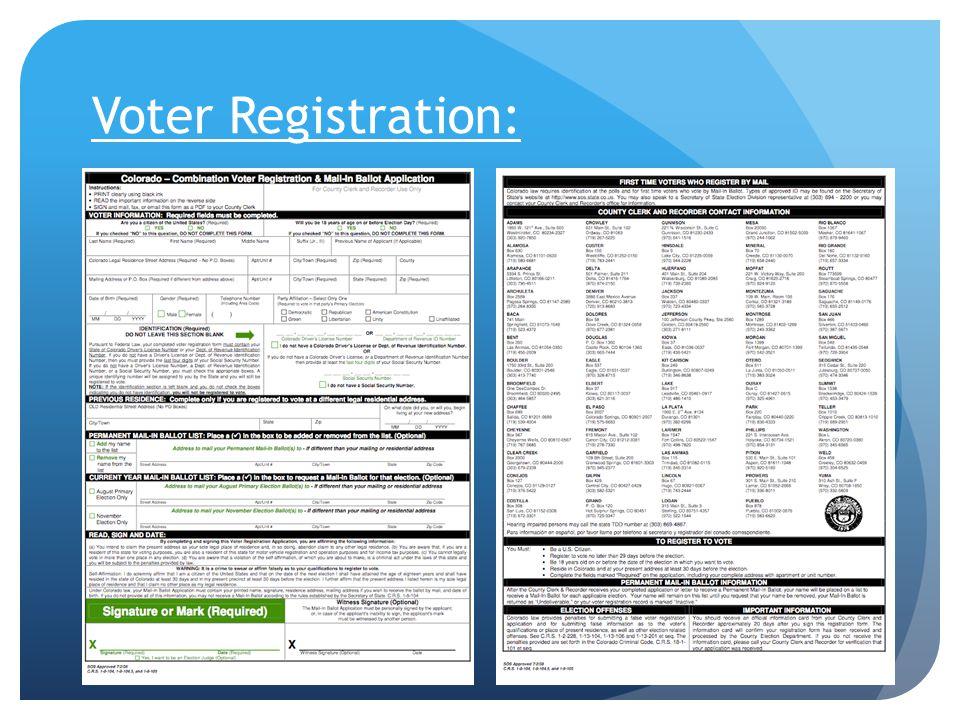 Voter Registration:
