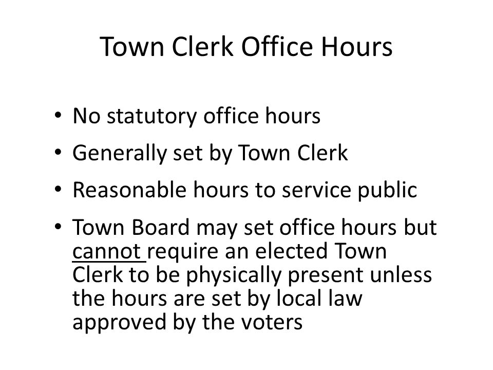 Special Town Board Meetings Scheduling – Called by Town Board or Town Supervisor Notice – Call/Email/Fax News Media – Post on town clerk sign board – Post on other sign boards designated for public notice – Post on town website – Written notice hand delivered to each Town Board Member