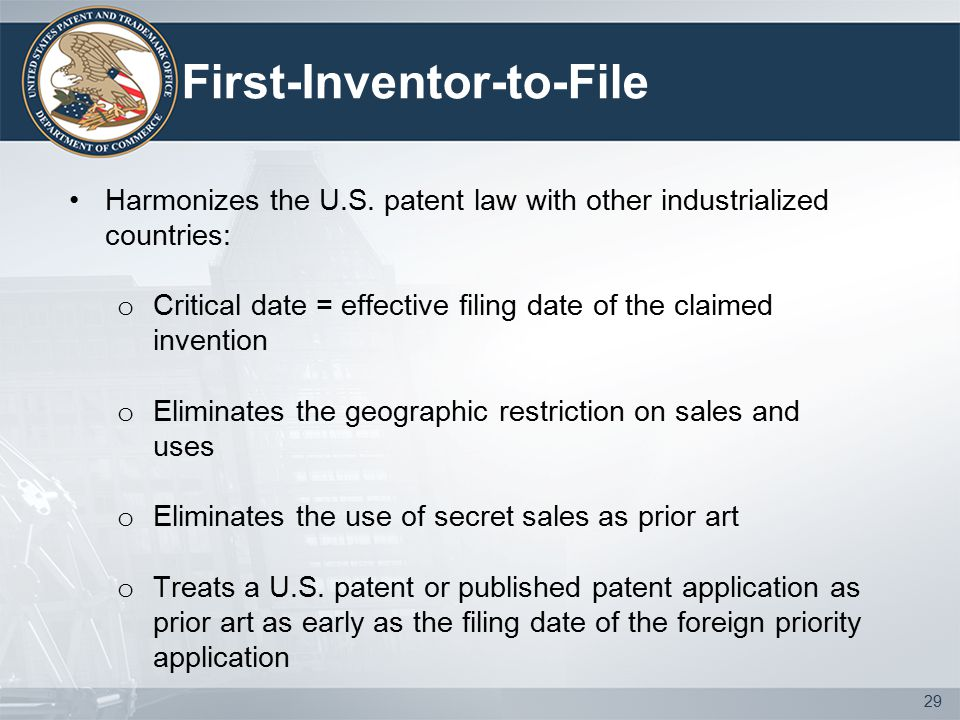 First-Inventor-to-File Harmonizes the U.S.