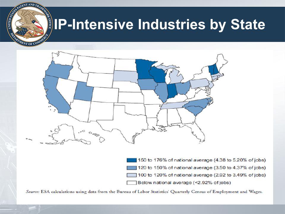 IP-Intensive Industries by State 4