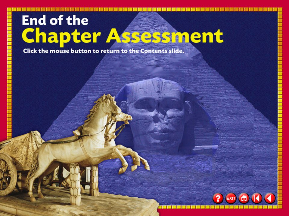 """48 Chapter Assessment 14 """"If I may join your army I swear on our god of war, Zeus, I will fight hard. I have a letter from my chieftain saying I am a"""