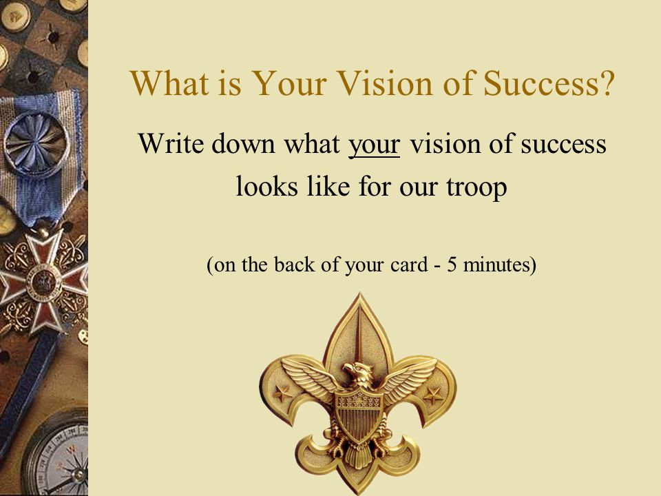 What is Your Vision of Success.
