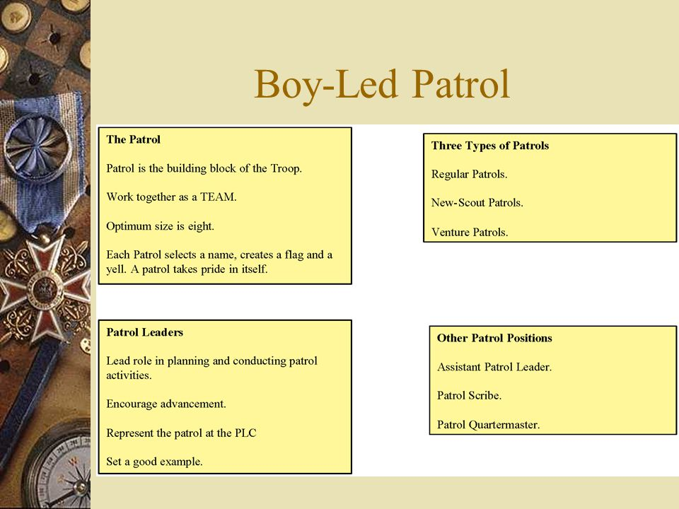 The patrol method is not a way to operate a Boy Scout troop, it is the only way.