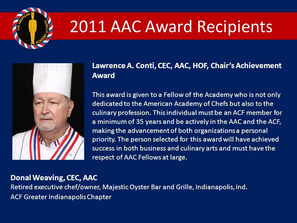 2011 AAC Award Recipients Lawrence A.
