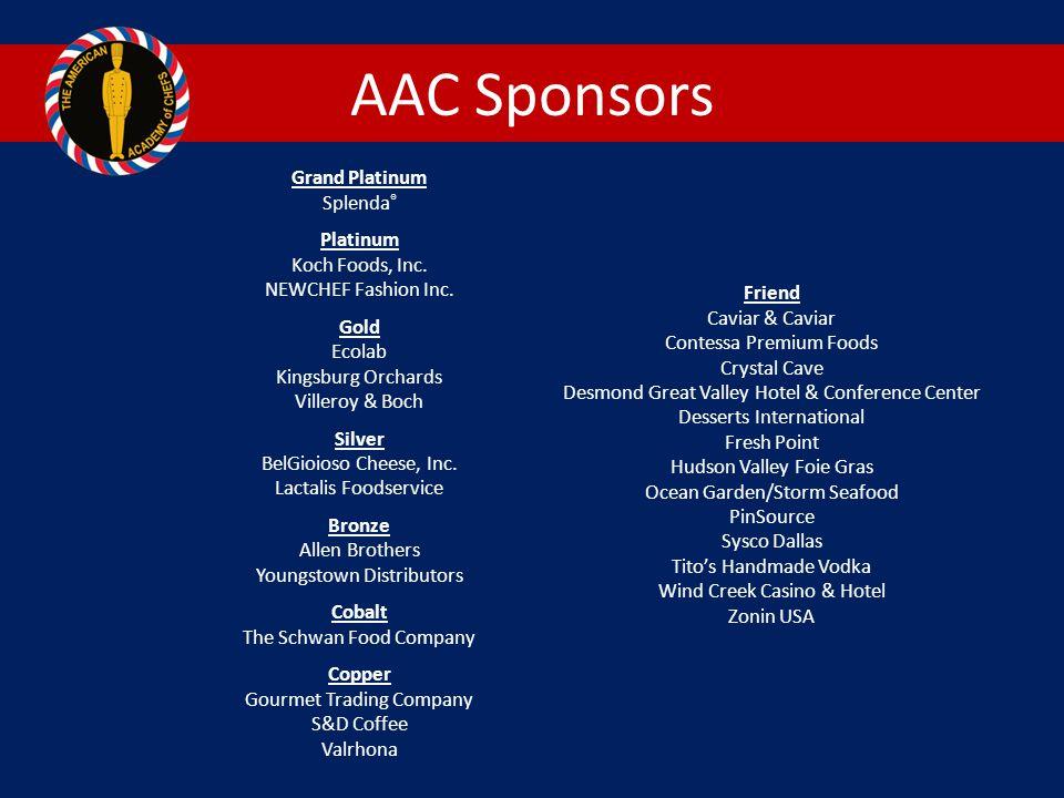 AAC Sponsors Grand Platinum Splenda ® Platinum Koch Foods, Inc.