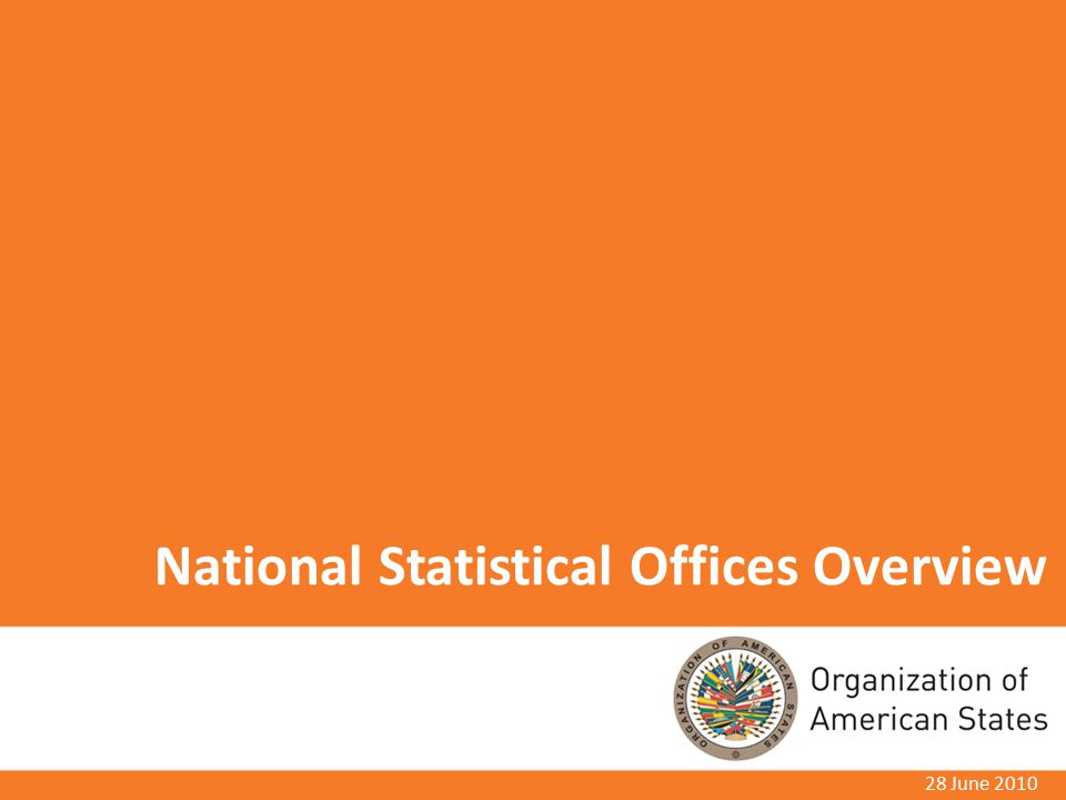 National Statistical Offices Overview 28 June 2010