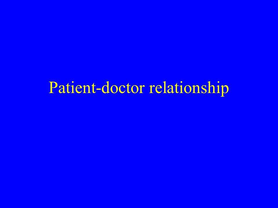 Patient-doctor relationship