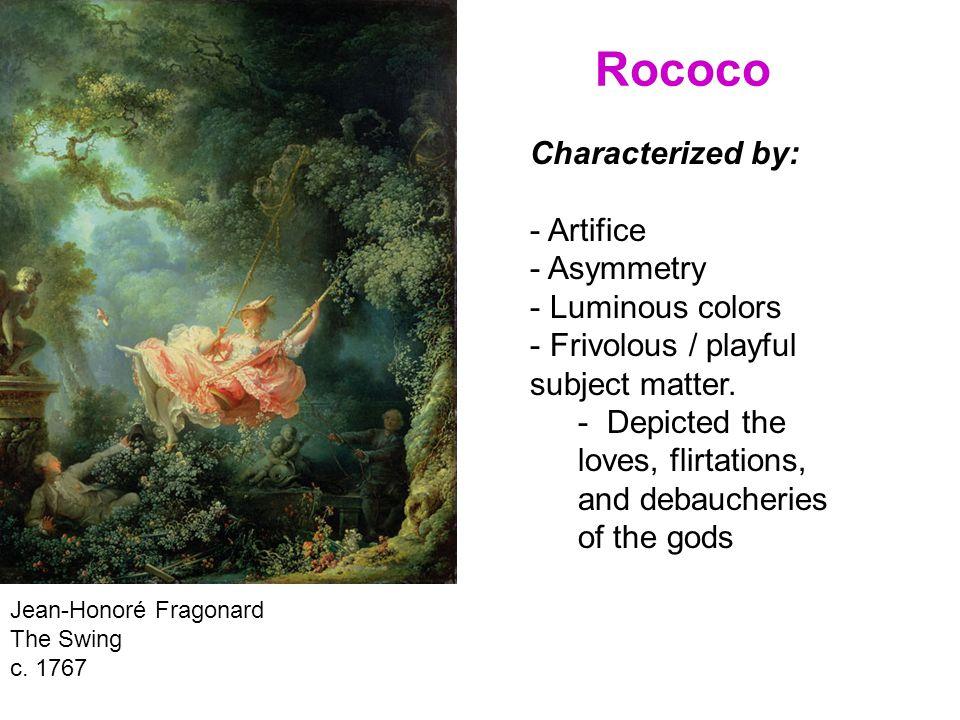 Rococo Jean-Honoré Fragonard The Swing c.