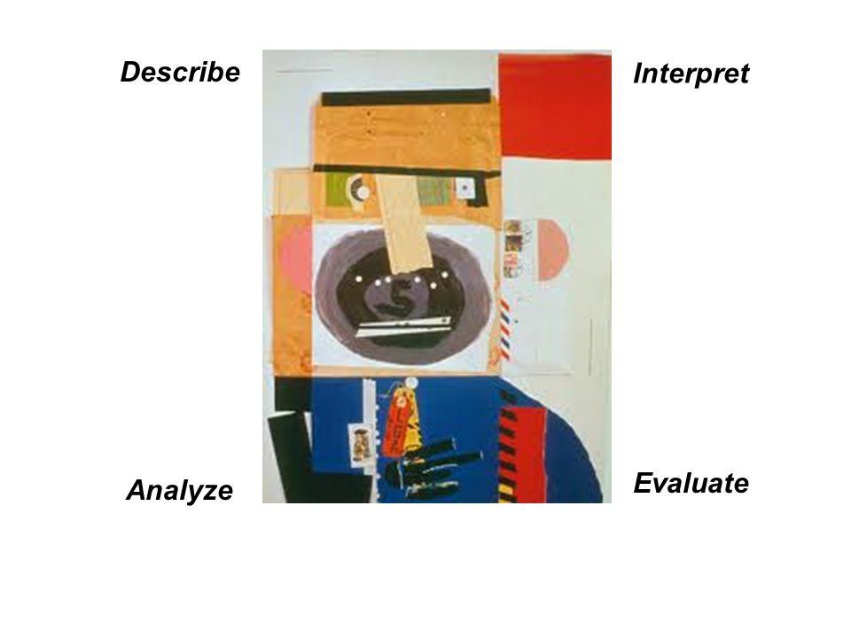 Describe Analyze Interpret Evaluate